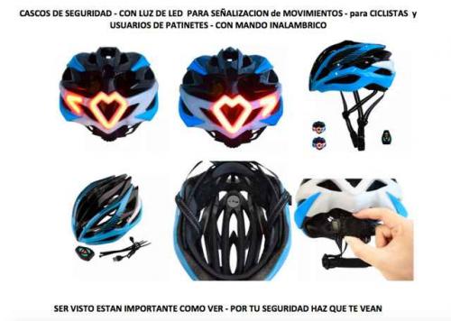 CASCOS DE SEGURIDAD CON LUZ DE LED
